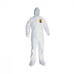 Habit de protection blanc KleenGuard A20 avec bottes et capuchon
