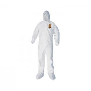 Habit de protection blanc KleenGuard A40 Reflex avec bottes et capuchon