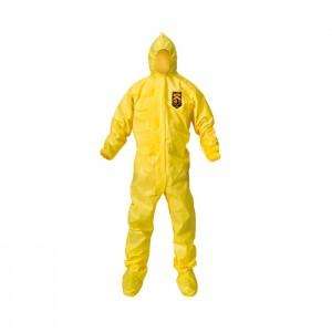 Habit de protection jaune KleenGuard A70 avec bottes et capuchon