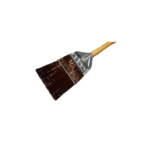Balai en nylon brun avec tête en métal