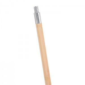 Manche fileté verni en bois avec embout de métal