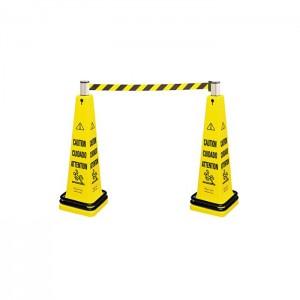Barrière de sécurité trilingue «Attention»
