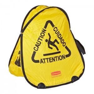 Cône de sécurité trilingue «Attention»