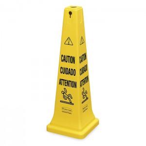 Grand cône de sécurité trilingue «Attention»