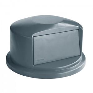 Couvercle dôme pour poubelle ronde Brute gris 32gal