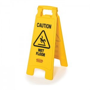 Panneau de sécurité «Attention plancher glissant»