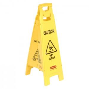 Panneau de sécurité «Attention plancher glissant» 4 faces