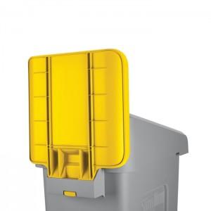 Panneau d'identification pour station de recyclage Slim Jim jaune