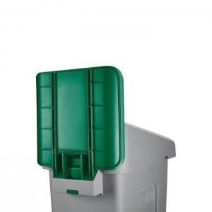 Panneau d'identification pour station de recyclage Slim Jim vert