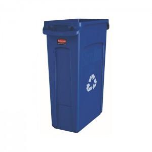 Poubelle pour recyclage Slim Jim bleue 23gal