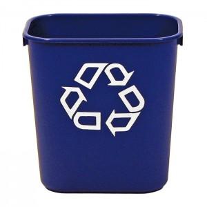 Poubelle de bureau 39L pour recyclage
