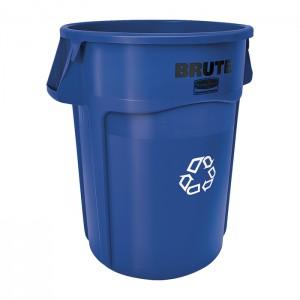 Poubelle ronde pour recyclage Brute bleue 20gal
