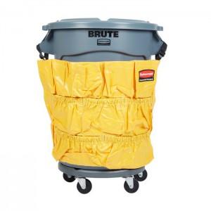 Sac porte-accessoire pour poubelle ronde Brute jaune