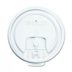 Couvercle plat à languette en plastique LB3081